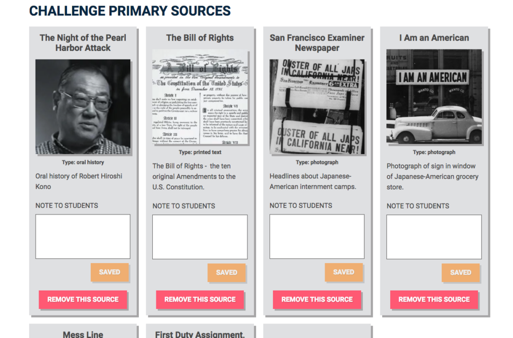 Customizing Primary Sources